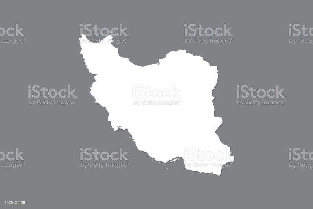 Carte Vectorielle Iran Avec Superficie Intégré à Laide De