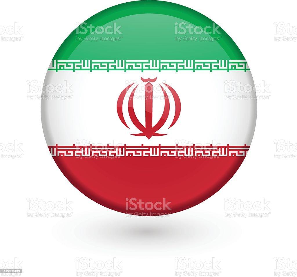 Botão de vetor Bandeira Iraniana - ilustração de arte em vetor