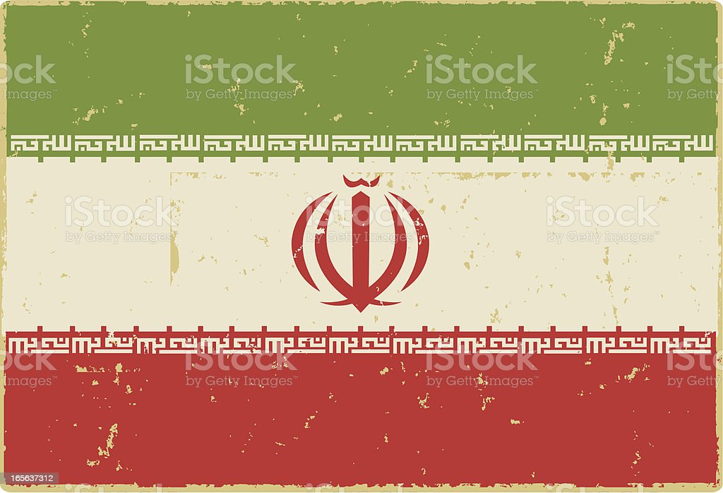 Iranian Flag royalty-free stock vector art