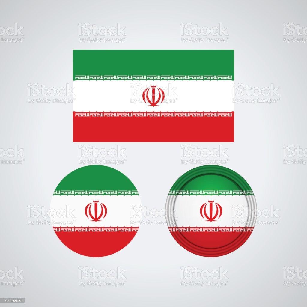Sinalizadores de trio iraniano, ilustração vetorial - ilustração de arte em vetor
