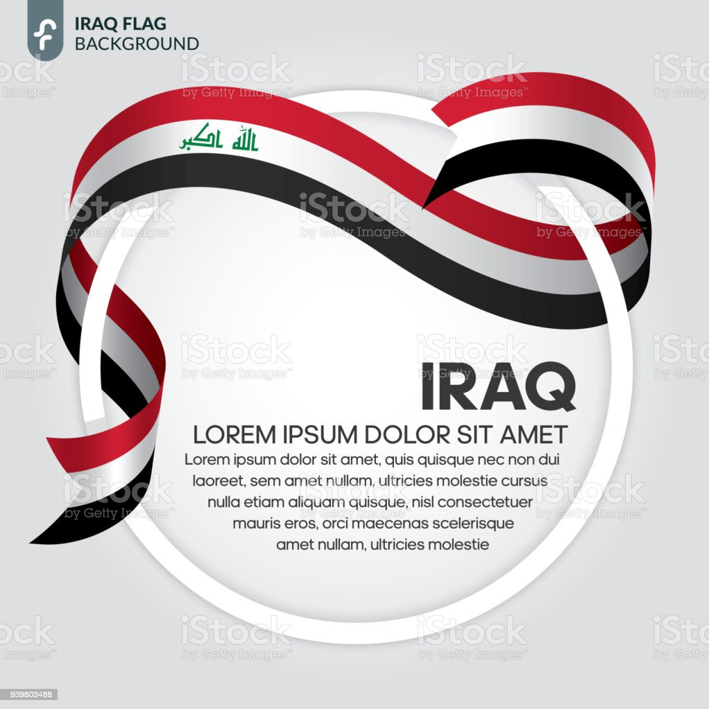 Iraq flag background vector art illustration
