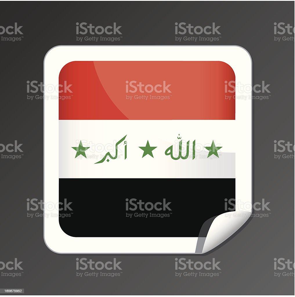 Iraq flag icon vector art illustration