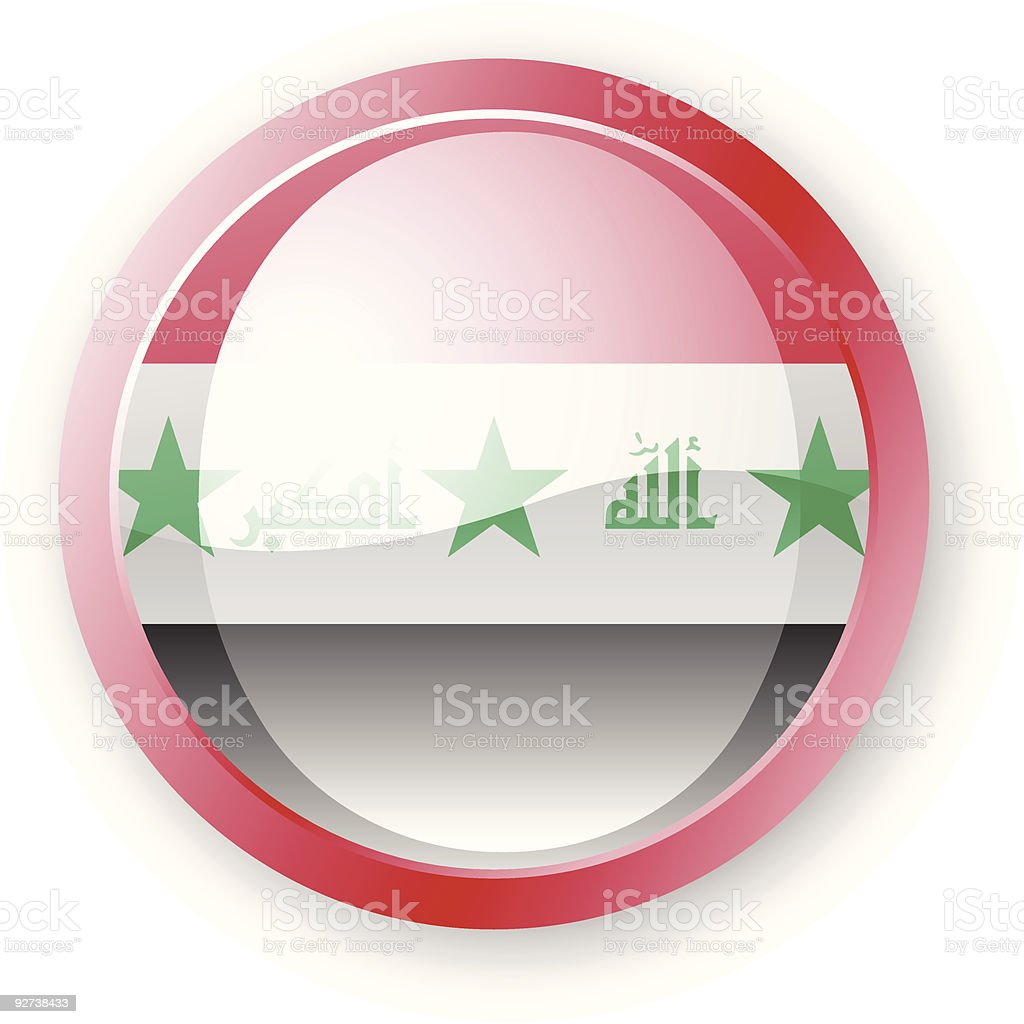 Iraq Flag Icon royalty-free iraq flag icon stock vector art & more images of circle