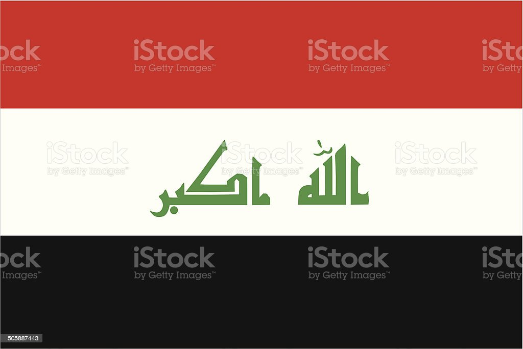 Iraq Flag vector art illustration
