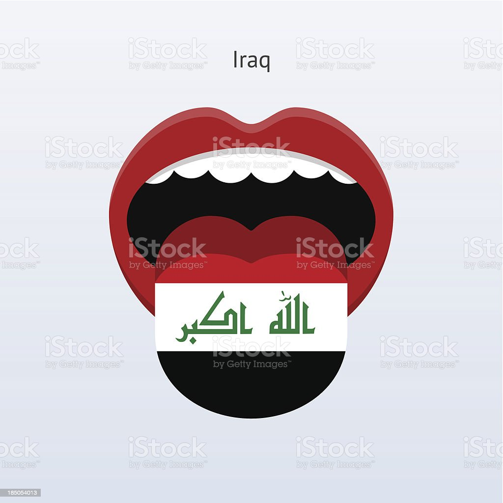 Iraq language. Abstract human tongue. royalty-free iraq language abstract human tongue stock vector art & more images of abstract