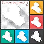 Map of Iraq for design. With space for your text and your background.