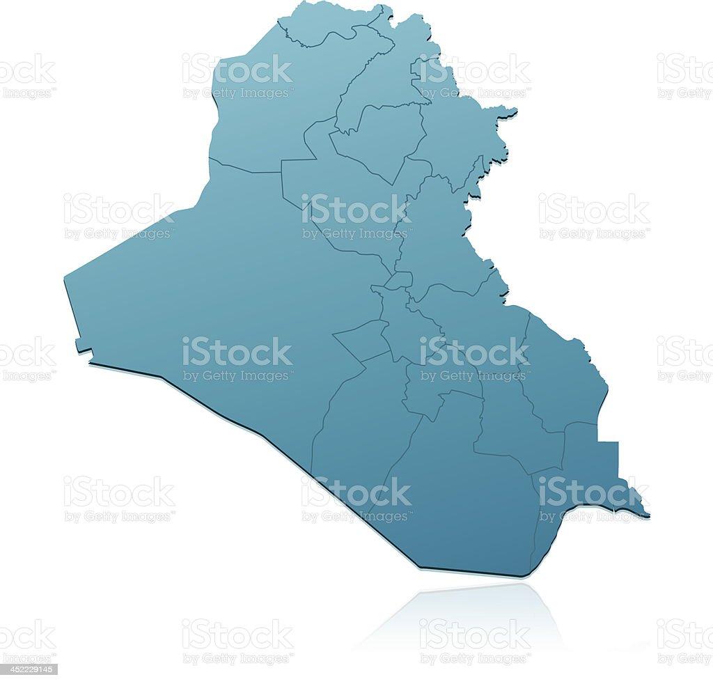 Iraq map green royalty-free stock vector art