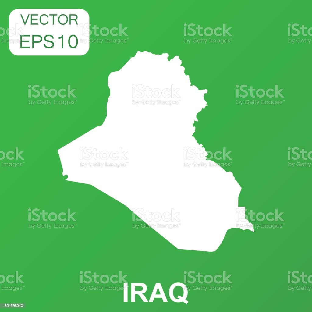 Iraq map icon business concept iraq pictogram vector illustration on chart map world map country geographic area iraq gumiabroncs Images