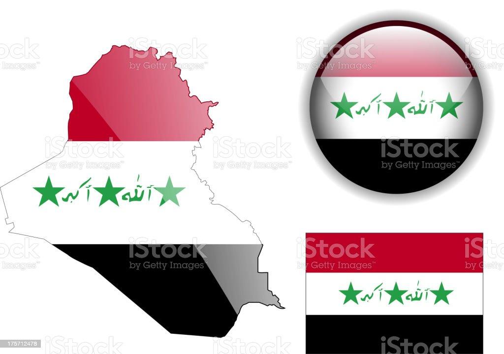 Iraq Set vector art illustration