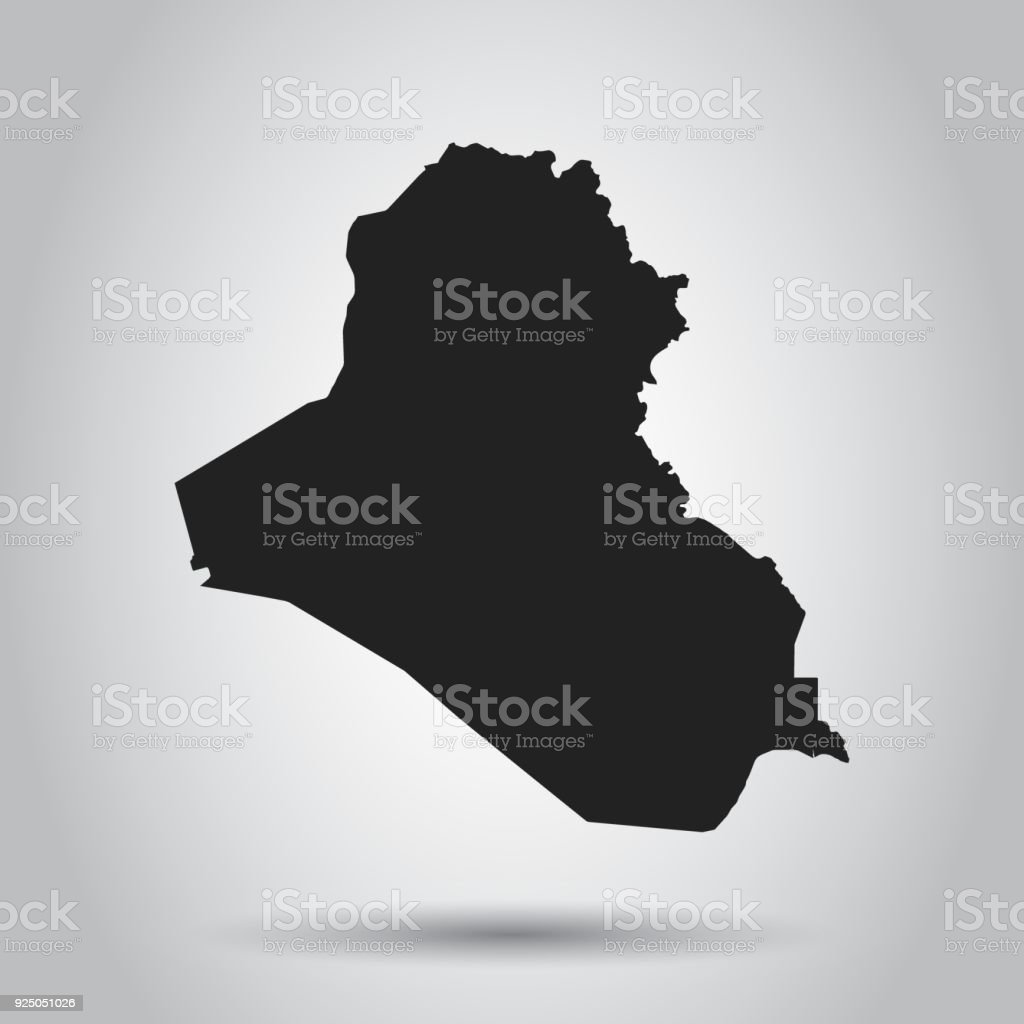 Iraq vector map black icon on white background stock vector art iraq vector map black icon on white background royalty free iraq vector map gumiabroncs Images