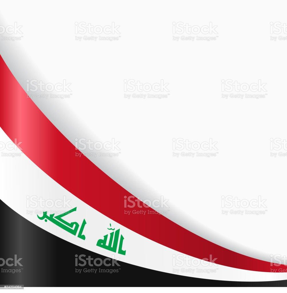 Iraqi flag background. Vector illustration. vector art illustration