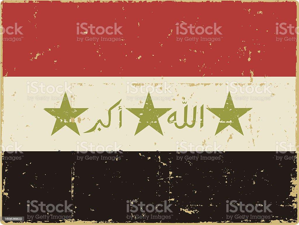 Iraqi Flag vector art illustration