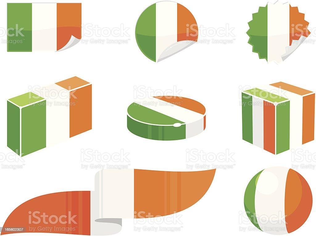 Ireland Design Elements vector art illustration