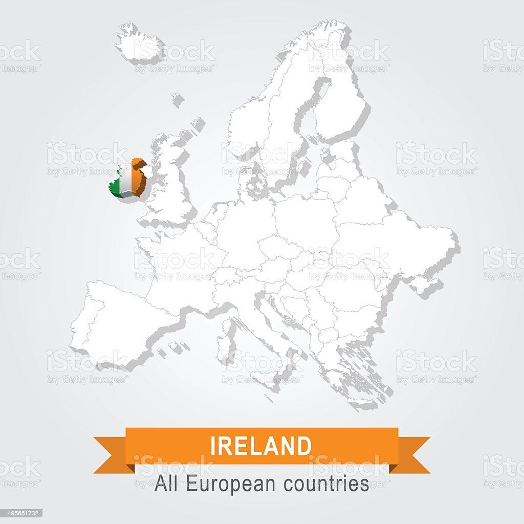 Irland Karte Europa.Irland Europa Administrative Karte Stock Vektor Art Und Mehr Bilder