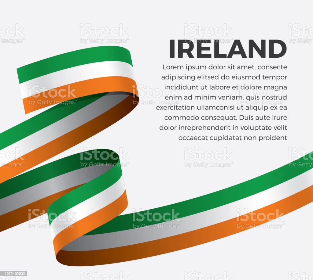 Fondo de bandera de Irlanda - ilustración de arte vectorial