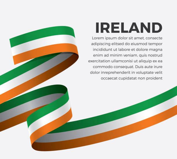 ilustraciones, imágenes clip art, dibujos animados e iconos de stock de fondo de bandera de irlanda - bandera irlandesa