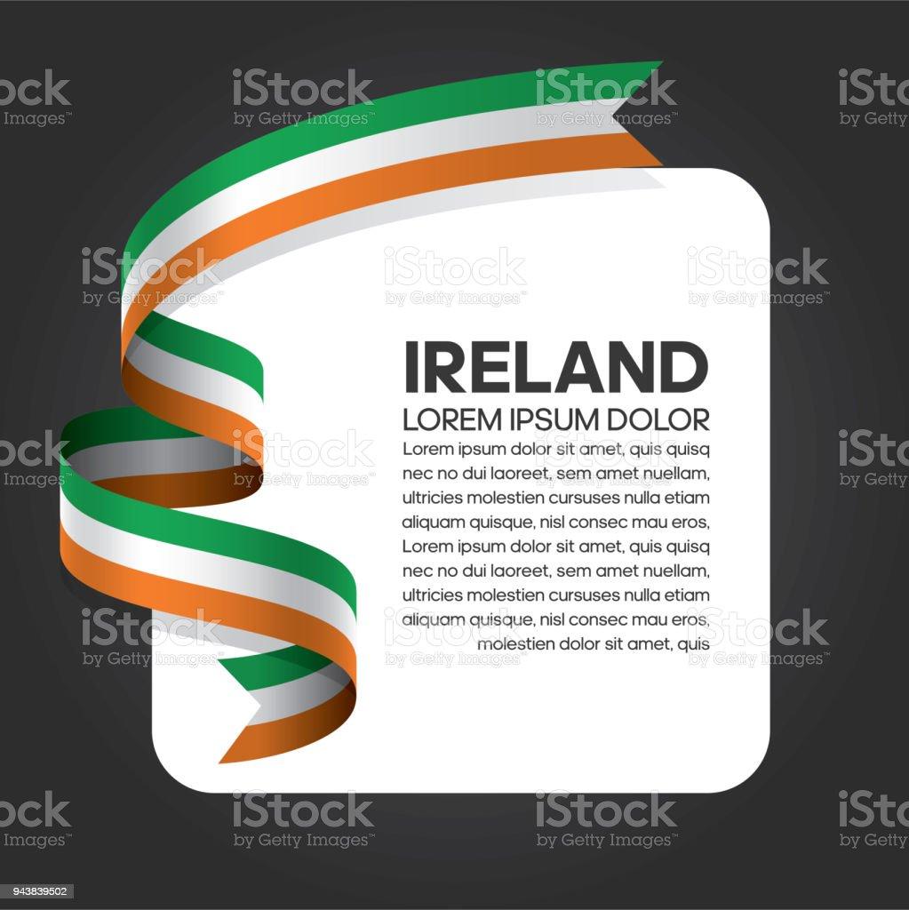 Irland Flagge Hintergrund – Vektorgrafik