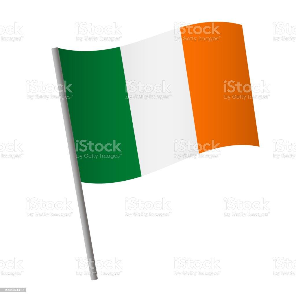 Icono de la bandera de Irlanda. - ilustración de arte vectorial