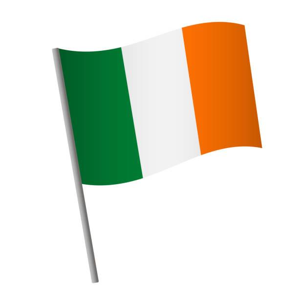 ilustraciones, imágenes clip art, dibujos animados e iconos de stock de icono de la bandera de irlanda. - bandera irlandesa