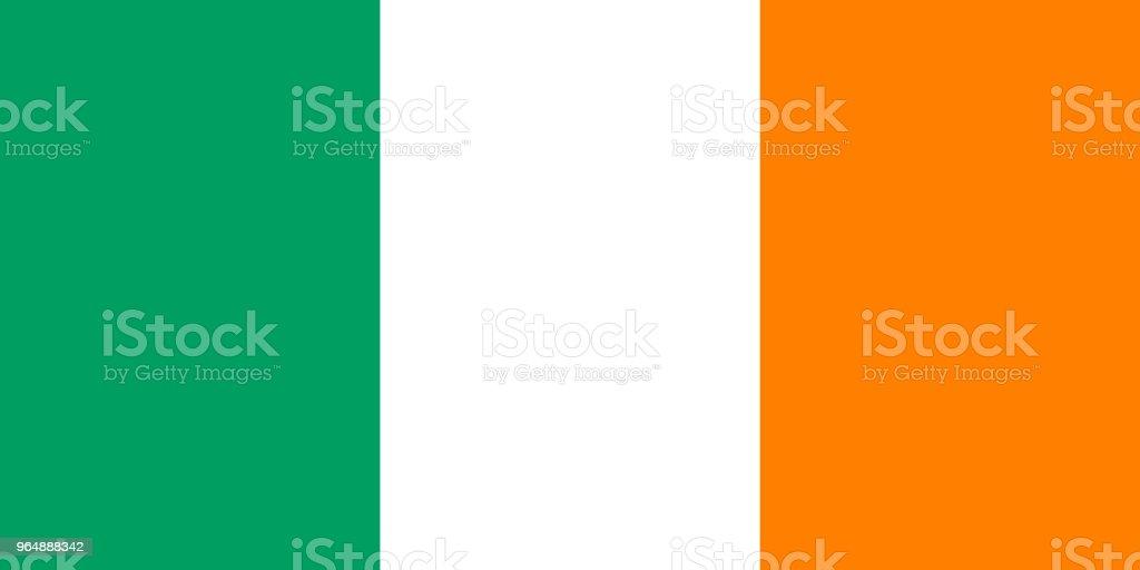 愛爾蘭國旗。愛爾蘭國旗, 向量 - 免版稅全景圖庫向量圖形
