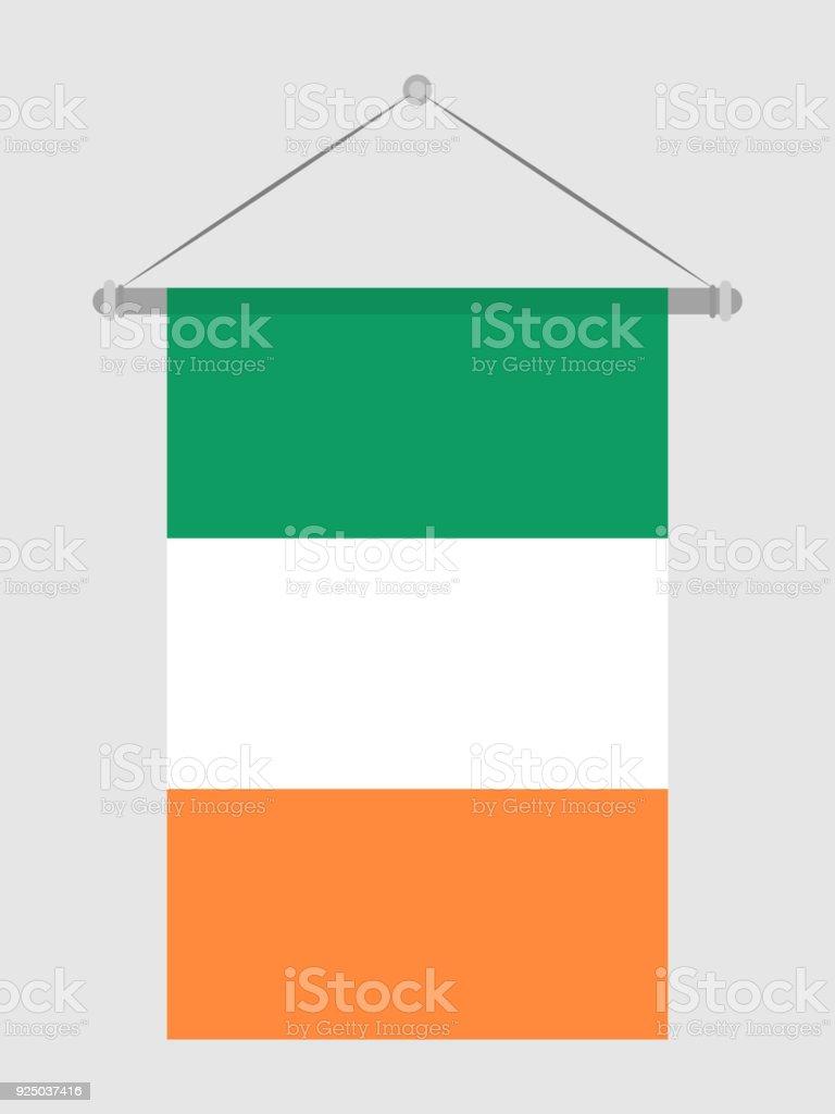 Bandera de Irlanda - ilustración de arte vectorial
