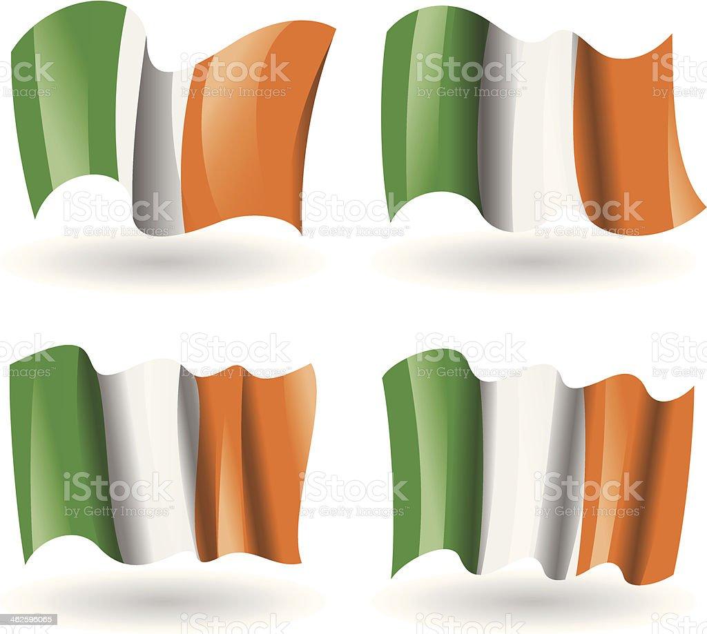Ireland Flag Waving Set royalty-free stock vector art