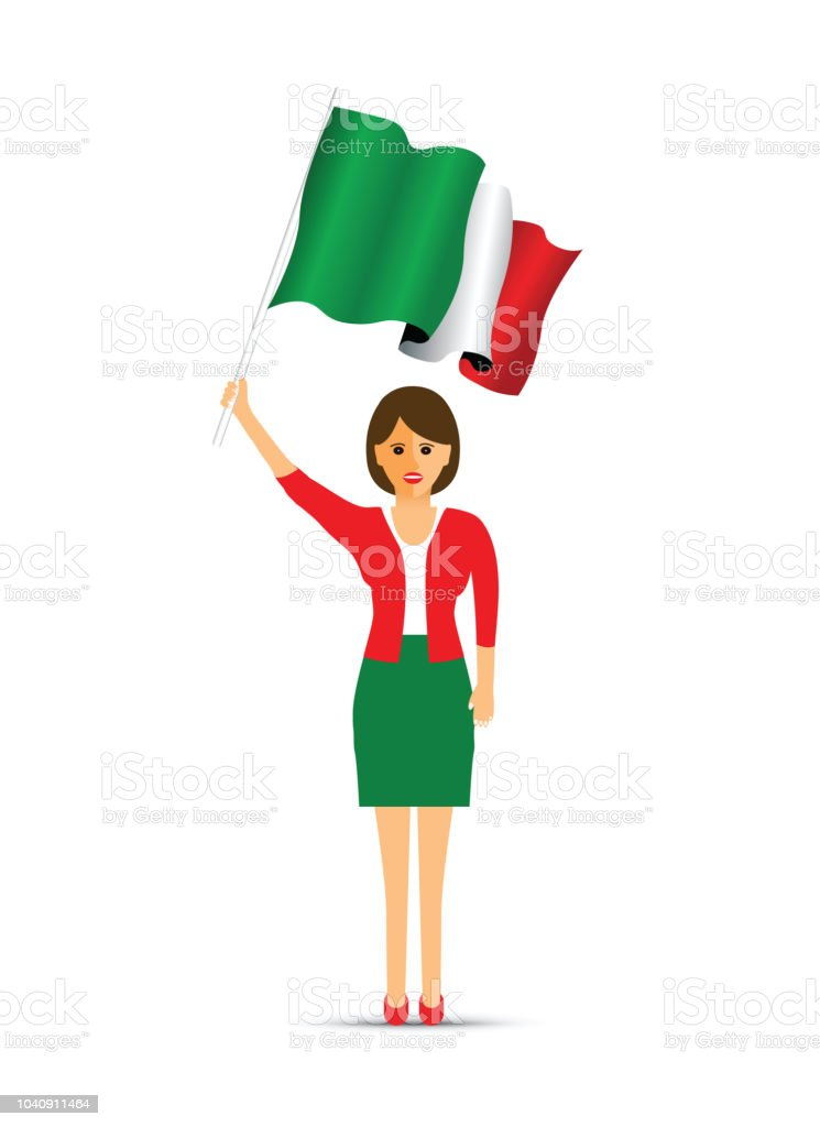 5faf79a558f8d Ireland Flag Waving Woman Stock Vector Art & More Images of Adult ...