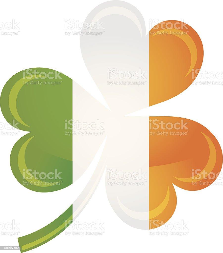 Ireland Flag with Shamrock Silhouette Illustration royalty-free ireland flag with shamrock silhouette illustration stock vector art & more images of celebration