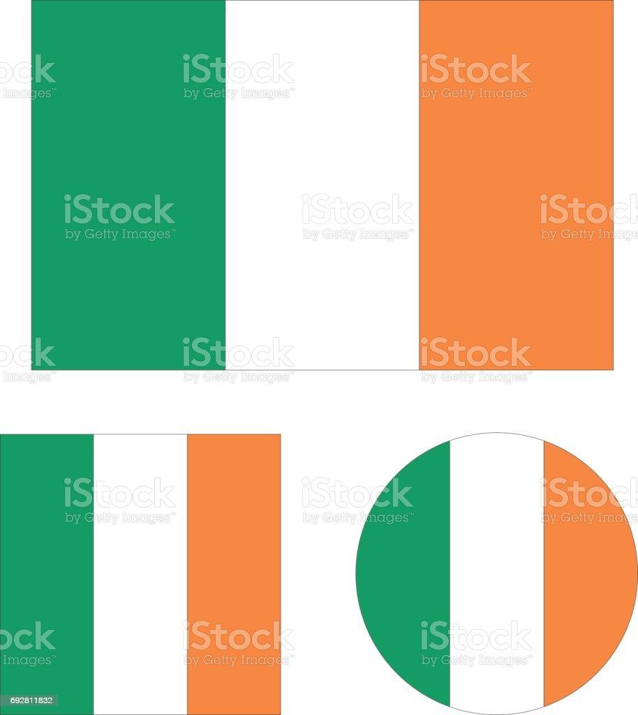 Irlanda flags - ilustración de arte vectorial
