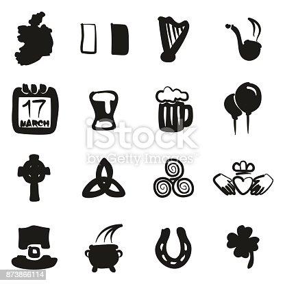 istock Ireland Icons Freehand Fill 873866114