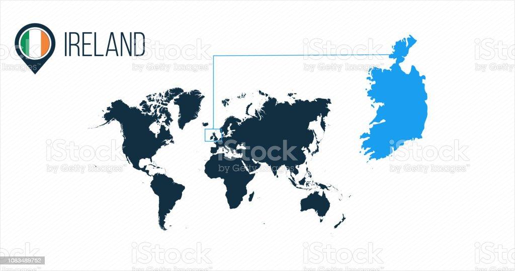 Landkarte Asien Ohne Namen.Irlands Lage Moderne Vektorkarte Fur Infografiken Alle