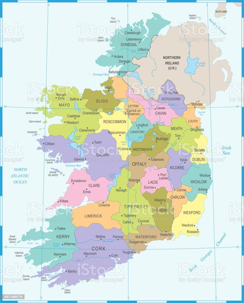 Ireland map detailed vector illustration stock vector art more ireland map detailed vector illustration royalty free ireland map detailed vector illustration stock vector gumiabroncs Images