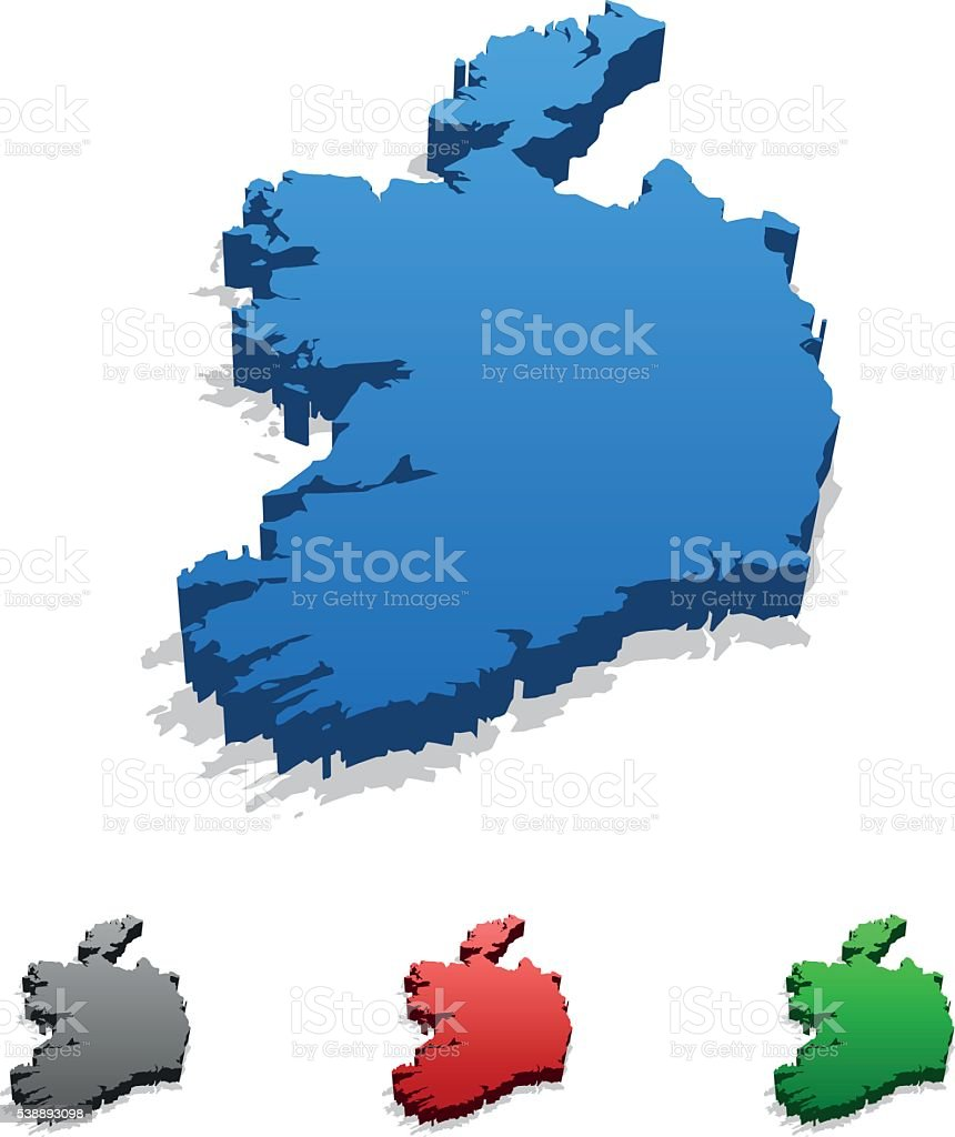 Ireland Map vector art illustration