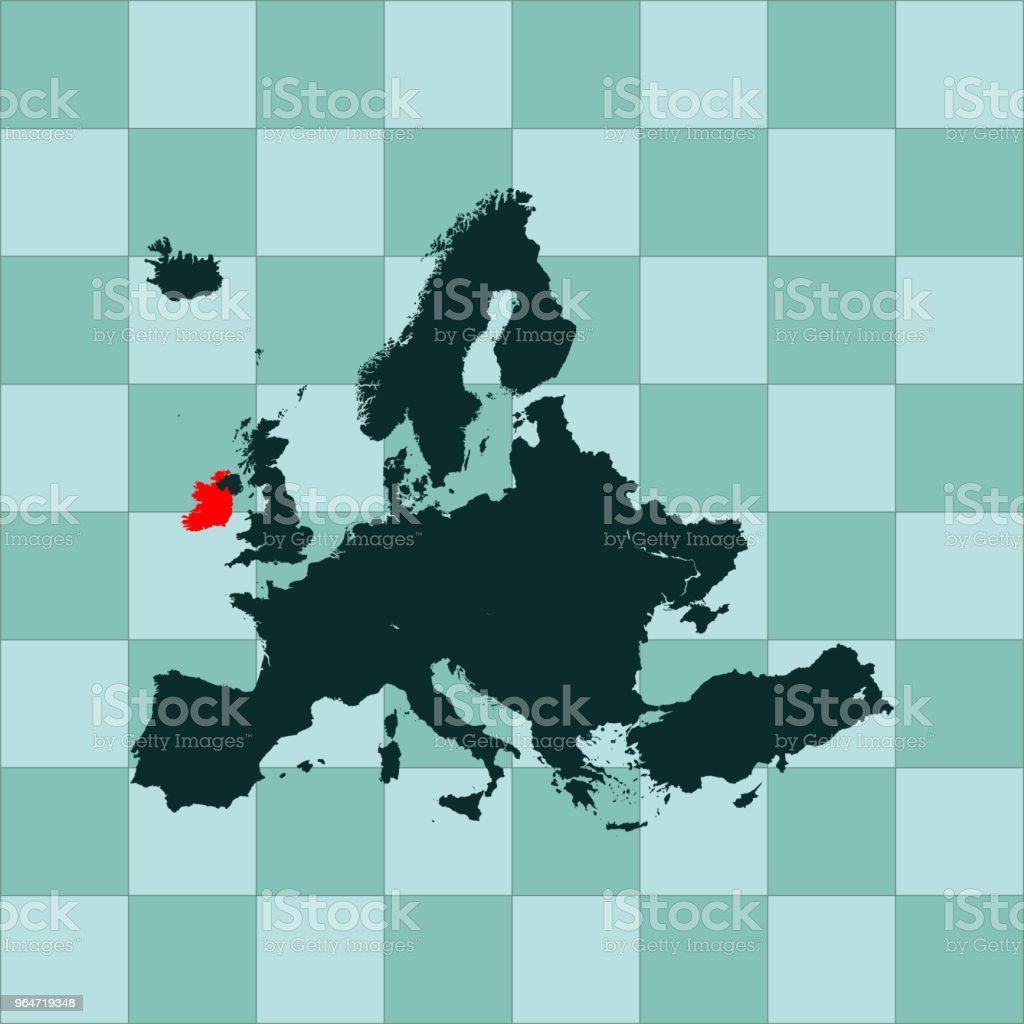 Ireland map royalty-free ireland map stock vector art & more images of cartography