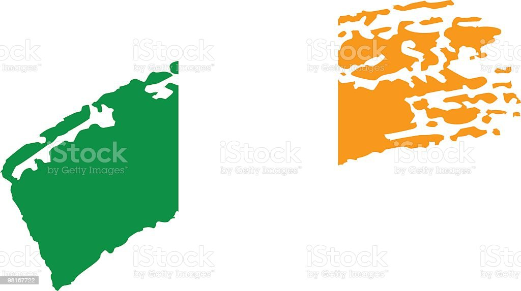 Ireland painted flag royalty-free ireland painted flag stock vector art & more images of chalk drawing