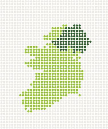 Ireland  Pop Map ( Vector )