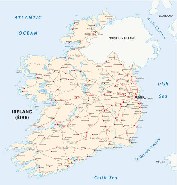 Road Map Of Ireland Counties.Best Cork Ireland Illustrations Royalty Free Vector Graphics Clip