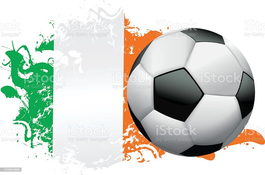 Ireland Soccer Grunge Design royalty-free stock vector art