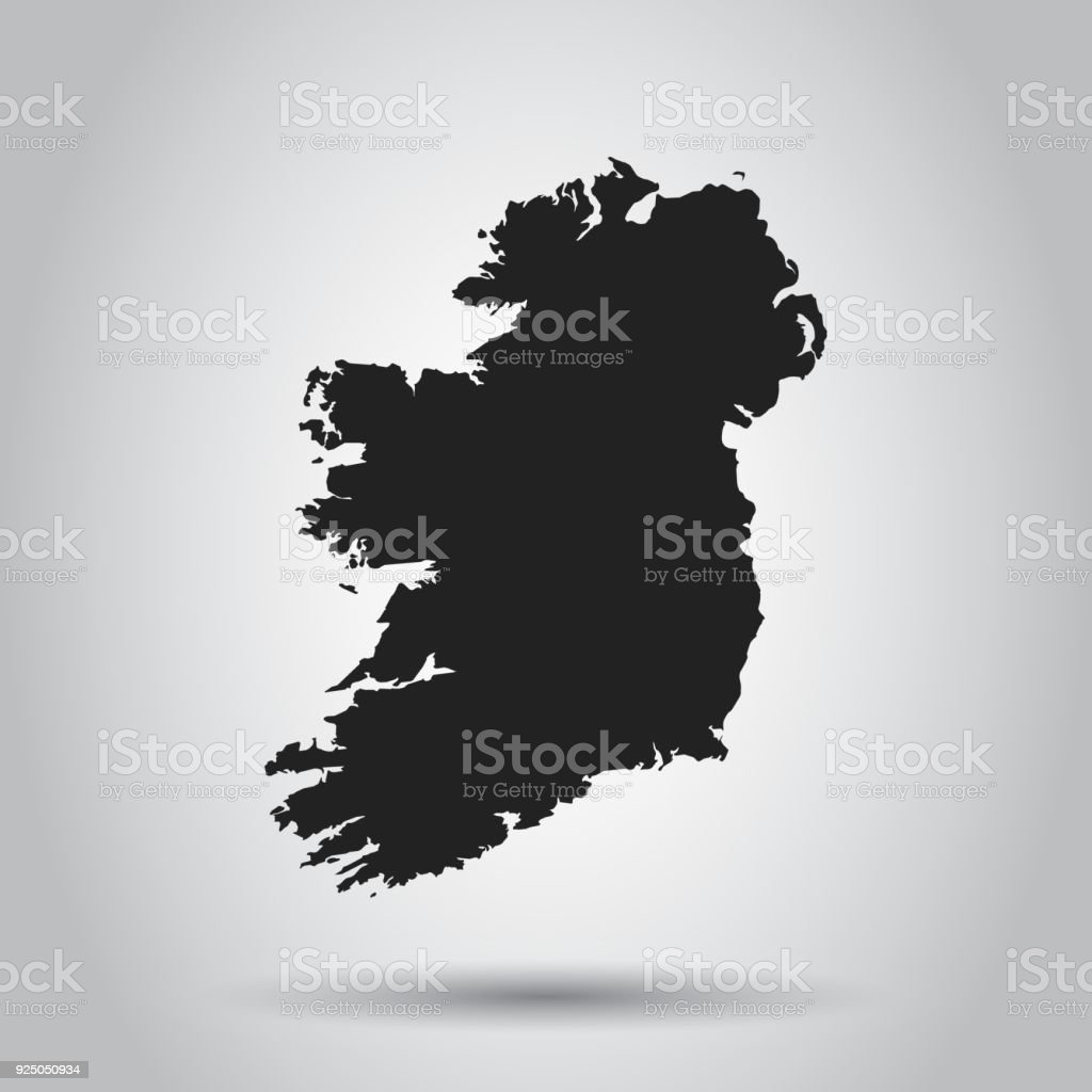 Ireland vector map black icon on white background stock vector art ireland vector map black icon on white background royalty free ireland vector map gumiabroncs Images