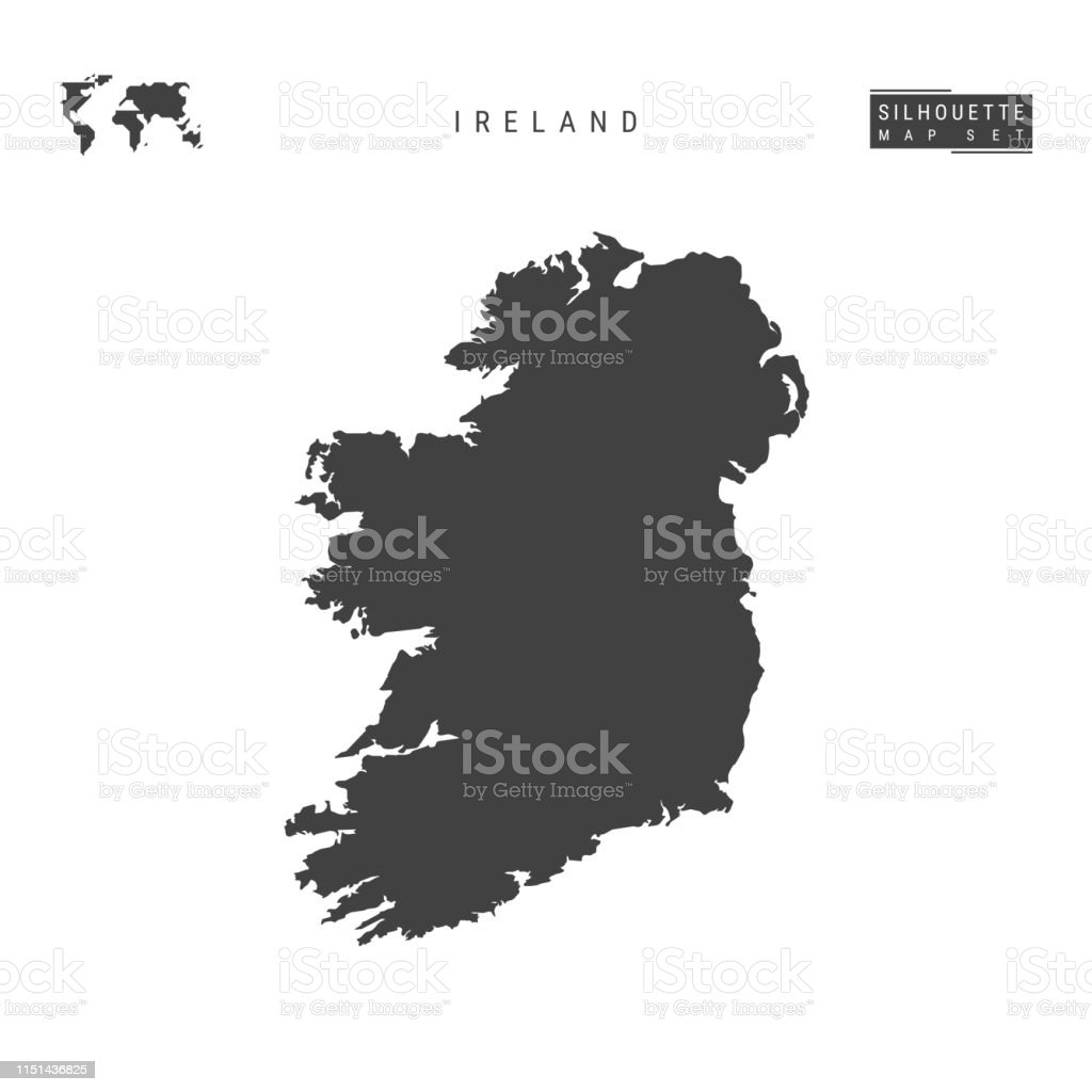 Map Of Ireland Vector.Ireland Vector Map Isolated On White Background Highdetailed Black