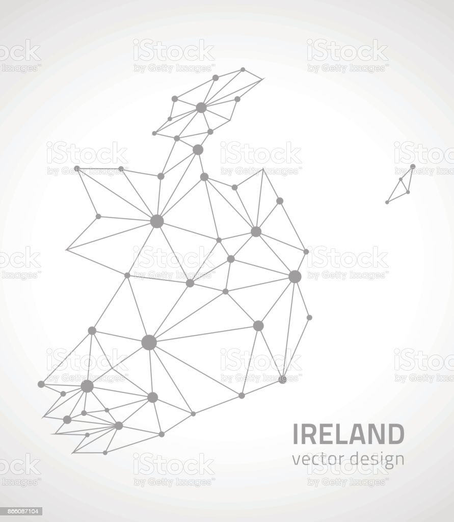Outline Map Of Ireland.Ireland Vector Outline Map Stock Vector Art More Images Of