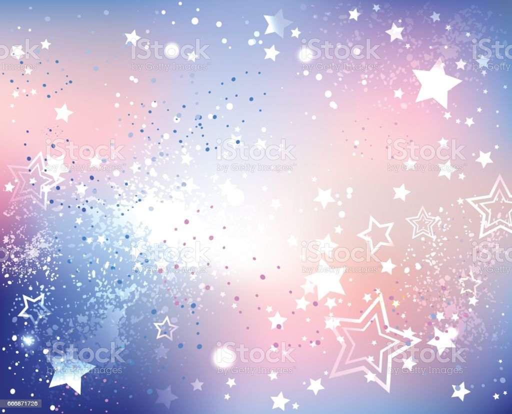 虹色のピンクの石英と静寂 ベクターアートイラスト