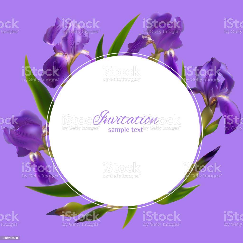 iris flowers floral background border buds blue petals flower