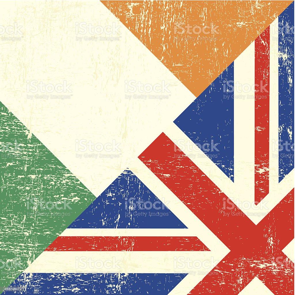 grunge de bandera de Irlanda y de Reino Unido - ilustración de arte vectorial