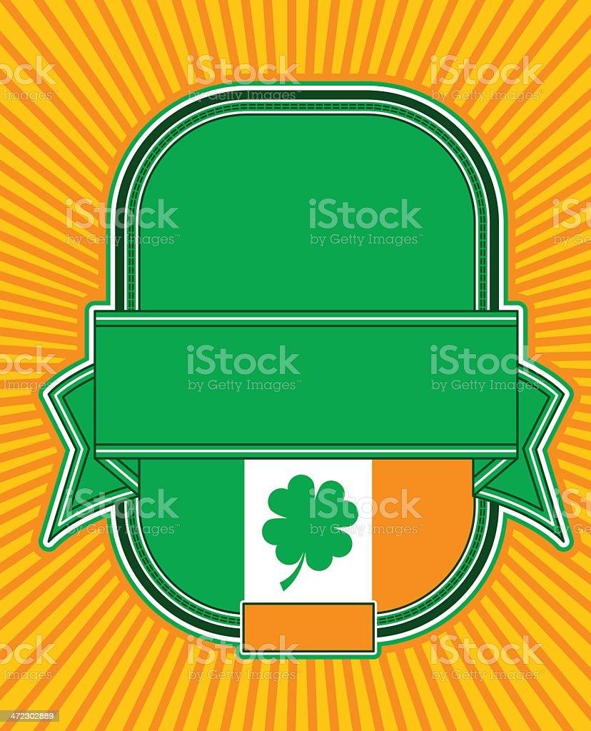 Irish Beer Label royalty-free stock vector art