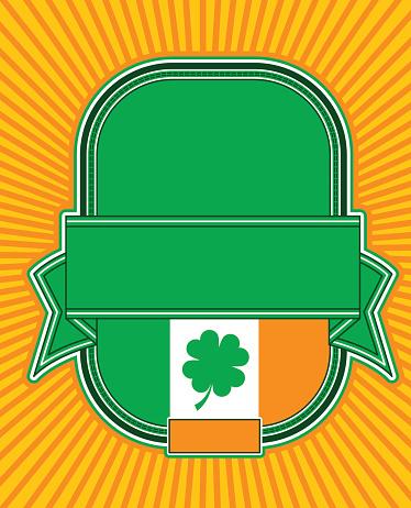 Irish Beer Label