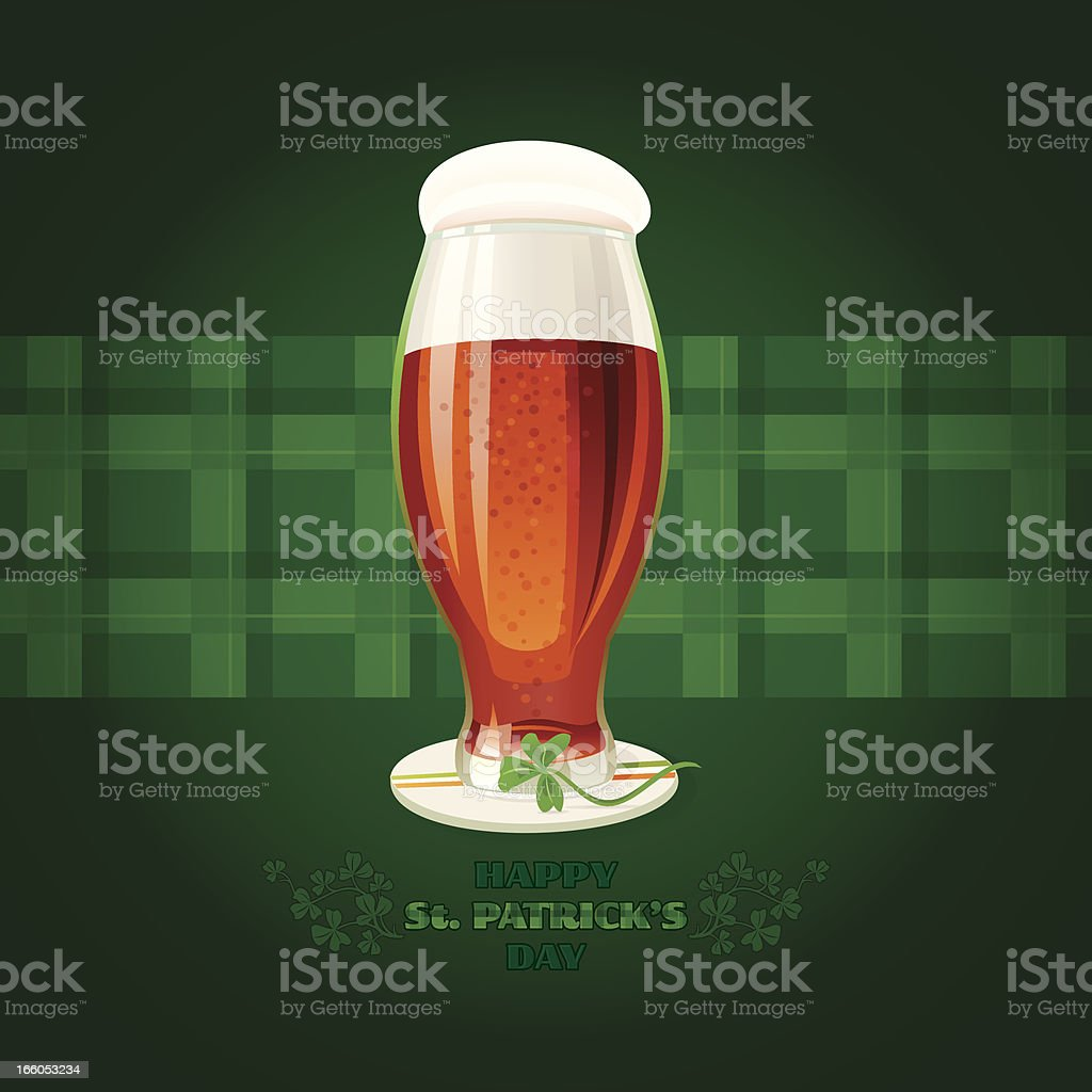 Irish Beer with 'Happy St. Patrick's Day' message royalty-free stock vector art