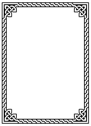 Irish Celtic vector ractangle frame design - traditional greeting card and invititon pattern