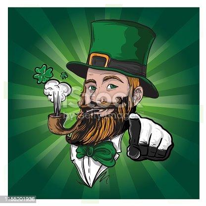 Illustration in vector file of Irish Character for Saint Patrick Celebration