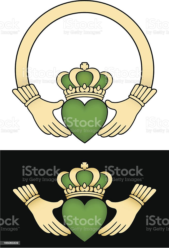 Irish Claddagh Loveloyalty And Friendship Symbol Stock Vector Art